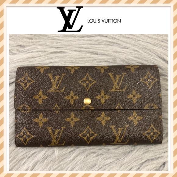 Louis Vuitton Handbags - SOLD❌Authentic Louis Vuitton Monogram Sarah Wallet
